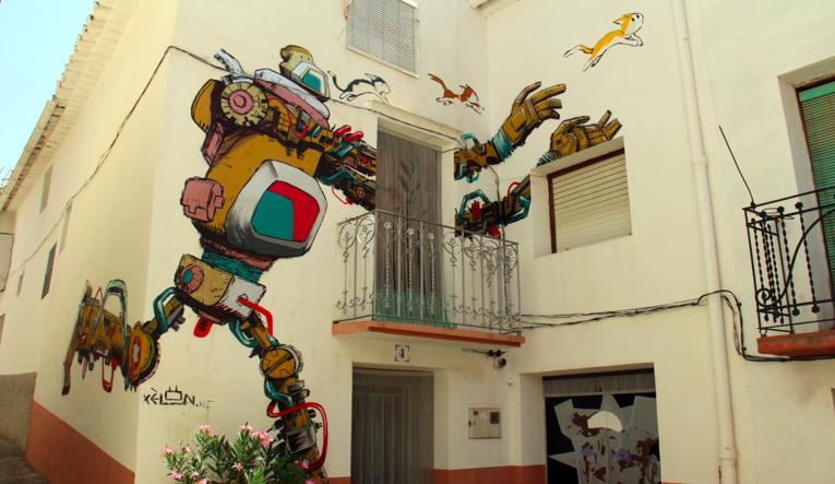 Деревушка Фансара в Валенсии стала центром уличного искусства
