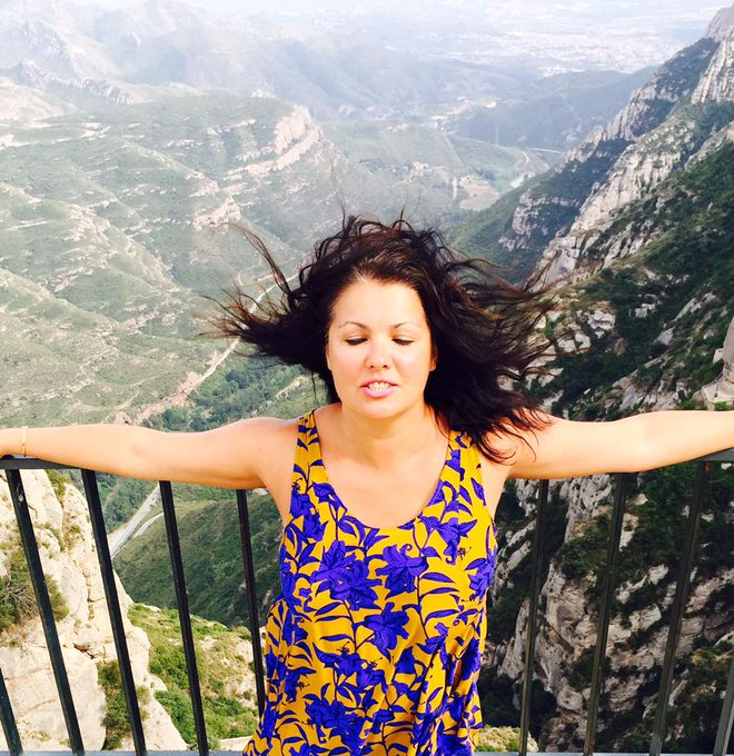 Анна Нетребко отдыхает в Каталонии